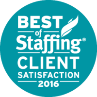 Medstaff's Best of Staffing Client Satisfaction 2016 Award