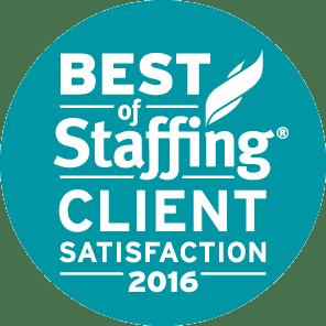 Medstaff's Best of Staffing Client Satisfaction 2016 Award