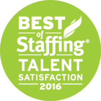 Medstaff's Best of Staffing Talent Satisfaction 2016 Award